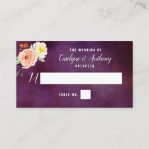 The Romance In Bloom Wedding Collection Place Card