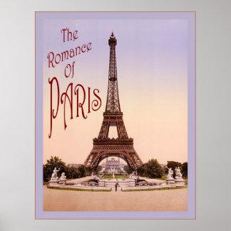 The Romance of Paris ~ Vintage Travel Poster