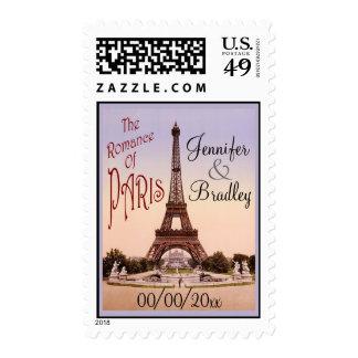 The Romance of Paris Wedding Postage Stamp