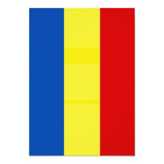 The Romanian Flag 5x7 Paper Invitation Card