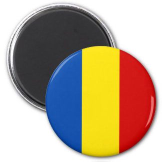 The Romanian Flag 2 Inch Round Magnet