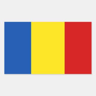 The Romanian Flag Rectangular Sticker