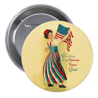 The Romney Ryan Ticket Pinback Button