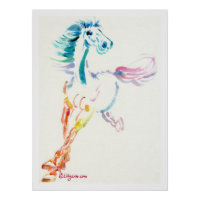 The Romping Horse Print and Poster print