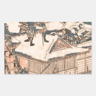 The ronin attack the principal gate of Kira's... Rectangular Sticker