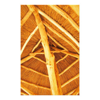 The roof is made of straw stationery