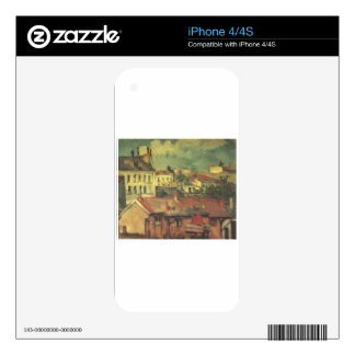 The roofs by Paul Cezanne Skins For The iPhone 4S