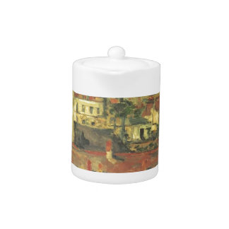 The roofs by Paul Cezanne Teapot