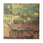 """The roofs by Paul Cezanne Tile<br><div class=""""desc"""">&#39;Post-Impressionism&#39; beautiful images from legendary artists</div>"""