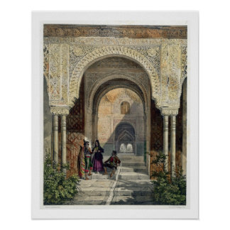 The Room of the Two Sisters in the Alhambra, Grana Poster