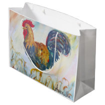 The Rooser on White Large Gift Bag