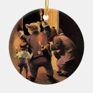 The Roosevelt Bears as The Teddy Bear Detectives Ceramic Ornament