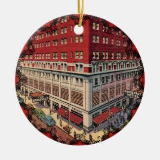 The Roosevelt Hotel Vintage Christmas Ornament
