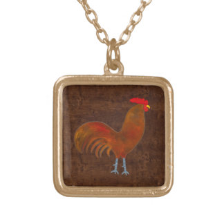The Rooster 2009 Square Pendant Necklace