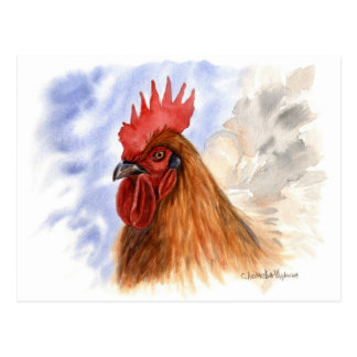 The Rooster design by Schukina A087 Postales