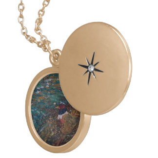 The Rooster In The Field Round Locket Necklace