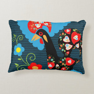 The Rooster of Portugal Accent Pillow