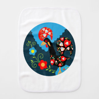 The Rooster of Portugal Burp Cloth