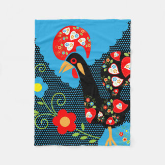 The Rooster of Portugal Fleece Blanket