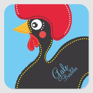 the Rooster of Portugal Square Sticker