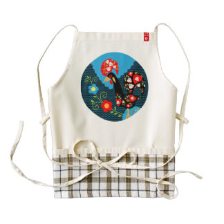 The Rooster of Portugal Zazzle HEART Apron