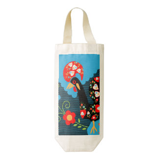 The Rooster of Portugal Zazzle HEART Wine Bag