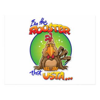 The Rooster that Usta Postcard