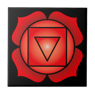 The Root Chakra Small Square Tile