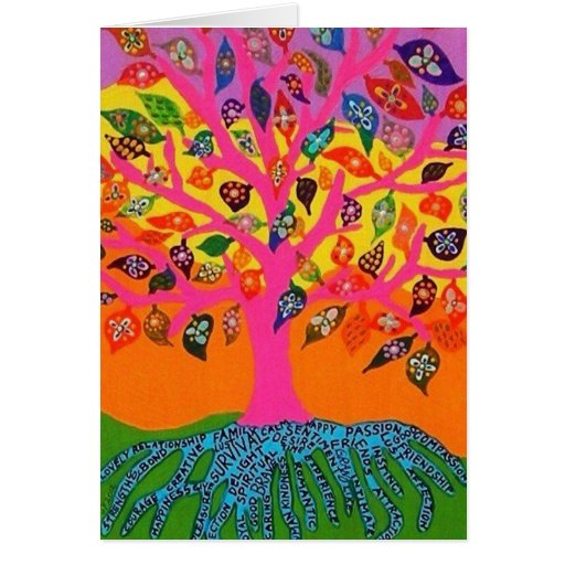 The Root Of Knowledge Tree Of Life - Greeting Card