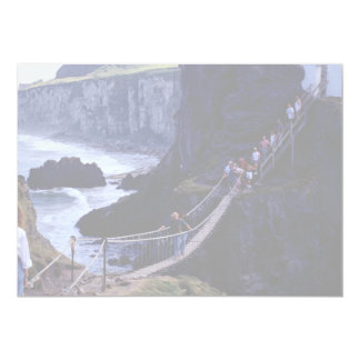 The rope bridge, Carrick-A-Rede, Ireland Europe Personalized Invite