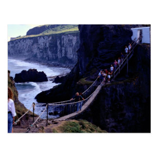 The rope bridge, Carrick-A-Rede, Ireland Europe Post Cards
