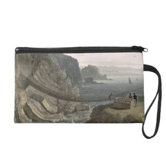 The Rope Bridge near the Lighthouse, Holyhead, fro Wristlet Clutches