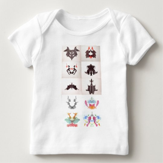 The Rorschach Test Ink Blots All 10 Plates 1-10 Baby T-Shirt