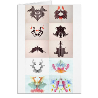 The Rorschach Test Ink Blots All 10 Plates 1-10 Card