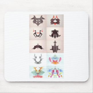 The Rorschach Test Ink Blots All 10 Plates 1-10 Mouse Pad