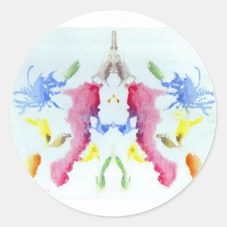 The Rorschach Test Ink Blots Plate 10 Crab Lobster Classic Round Sticker