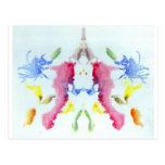 The Rorschach Test Ink Blots Plate 10 Crab Lobster Post Card