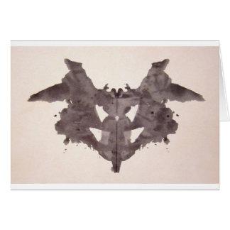 The Rorschach Test Ink Blots Plate 1 Bat, Moth Card
