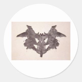 The Rorschach Test Ink Blots Plate 1 Bat, Moth Classic Round Sticker