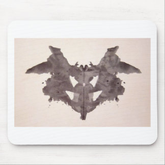 The Rorschach Test Ink Blots Plate 1 Bat, Moth Mouse Pad