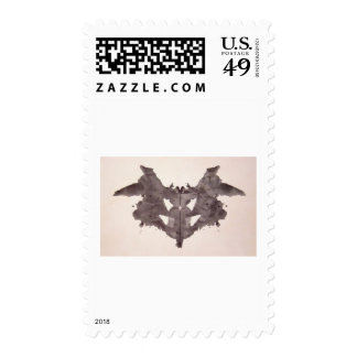 The Rorschach Test Ink Blots Plate 1 Bat, Moth Postage Stamps