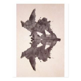 The Rorschach Test Ink Blots Plate 1 Bat, Moth Postcard