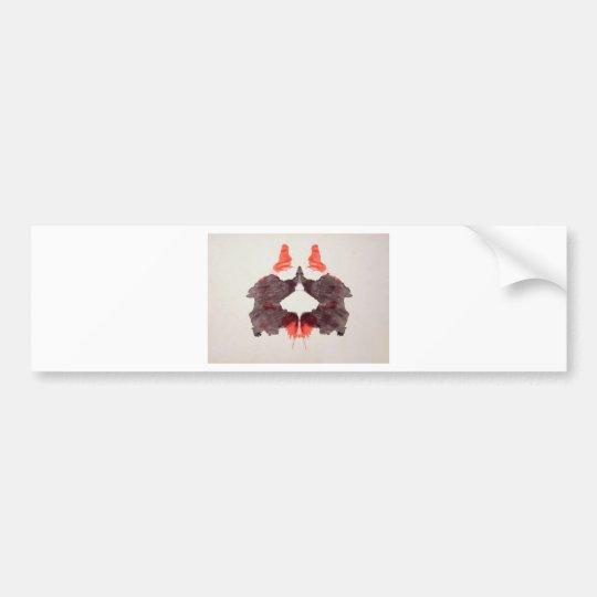The Rorschach Test Ink Blots Plate 2 Two Humans Bumper Sticker