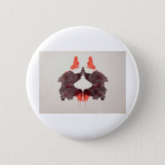The Rorschach Test Ink Blots Plate 2 Two Humans Button