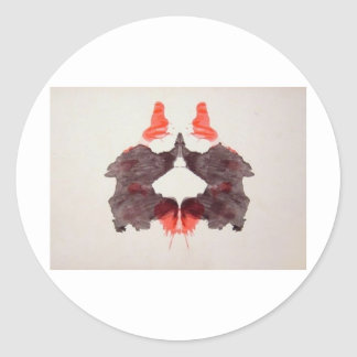 The Rorschach Test Ink Blots Plate 2 Two Humans Classic Round Sticker
