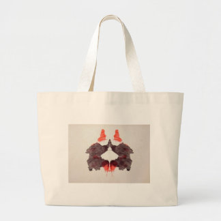 The Rorschach Test Ink Blots Plate 2 Two Humans Large Tote Bag