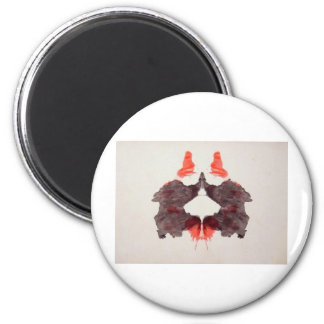The Rorschach Test Ink Blots Plate 2 Two Humans Magnet