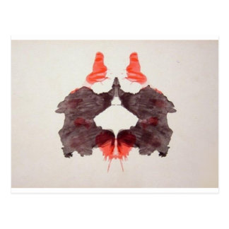 The Rorschach Test Ink Blots Plate 2 Two Humans Postcard