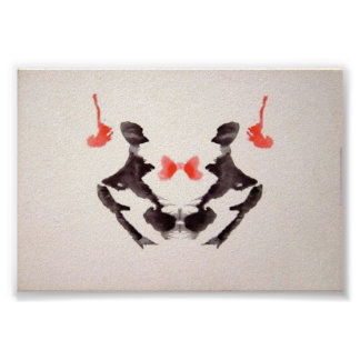 The Rorschach Test Ink Blots Plate 3 Poster