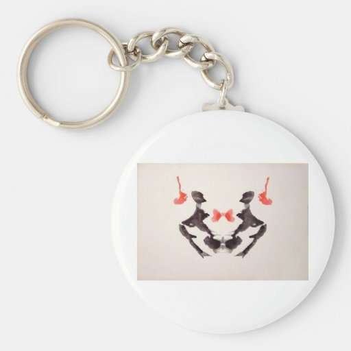 The Rorschach Test Ink Blots Plate 3 Two Humans Keychains